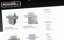 nexgrill industries website design