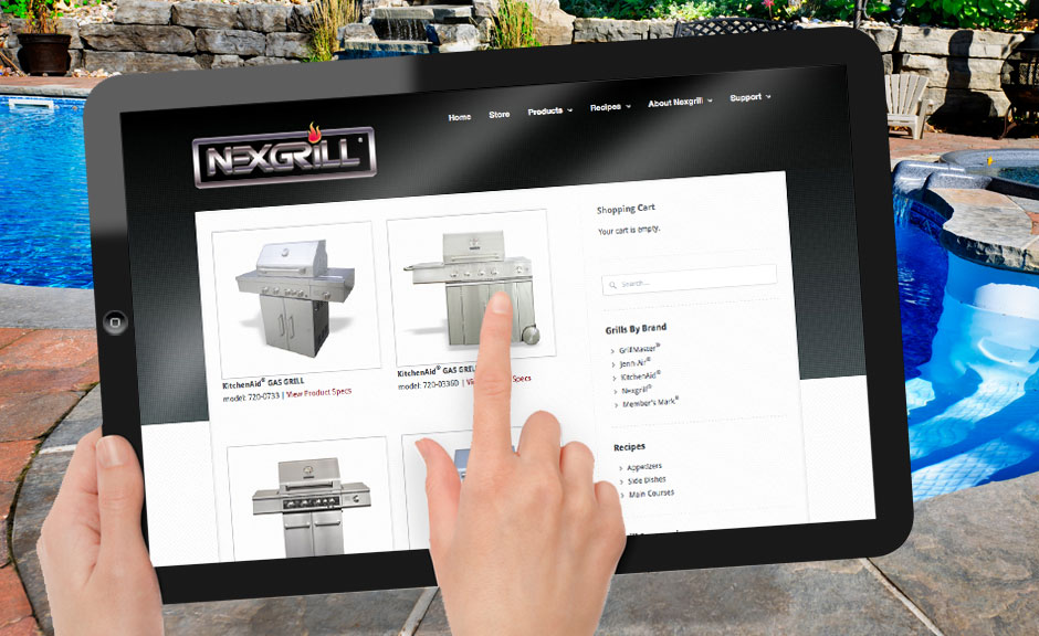 Nexgrill website design