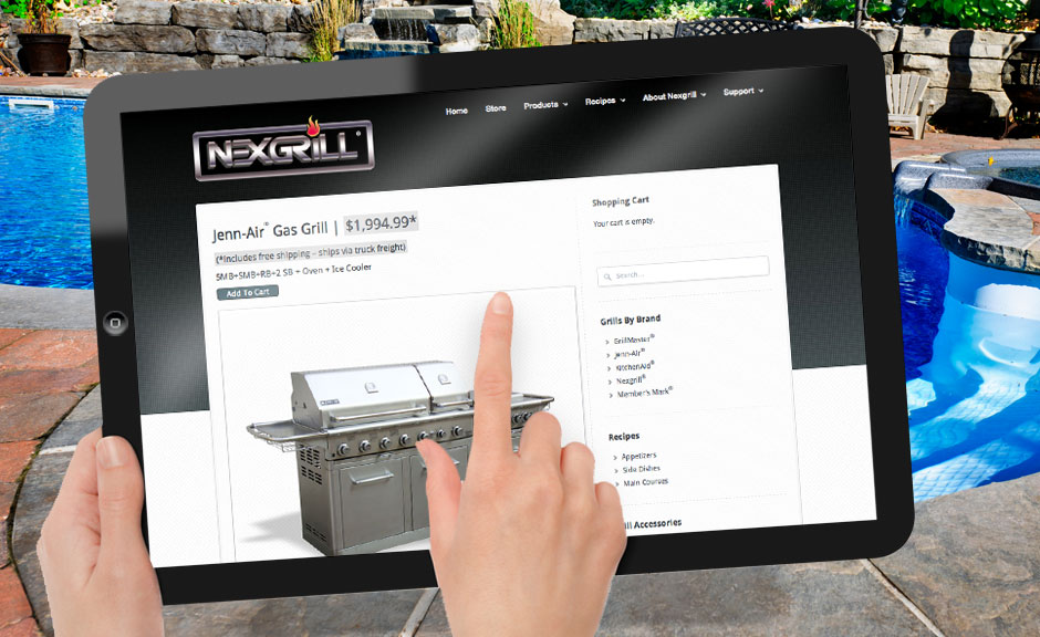 Nexgrill website design product page